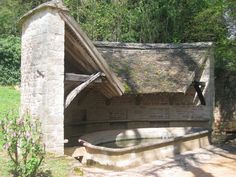 GIVRY LAVOIR CORTIAMBLES Vernacular Architecture, Construction, Urban Design, Outdoor Furniture, Outdoor Decor, Water Features, Hammock, Tiny House, France