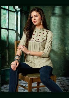 Specification : NAME :Parra Alisha TOTAL DESIGN :8 PER PIECE RATE : 425/- FULL CATALOG RATE : 3400/-+(5%GST) + Shipping Charge WEIGHT :4 SIZE :S   M   L   XL   XXL Type :Ladies Top MOQ :Minimum 8 Pcs. Fabric :Pure 14kg Rayon Pakistani Fashion Casual, Pakistani Dresses Casual, Ethnic Fashion, Western Tops, Western Wear, Lehenga Gown, Short Tops, Fashion Wear, Traditional Outfits