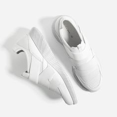 Image 1 of WHITE  sneakers WITH HOOK AND LOOP CLOSURE from Zara White  Sneakers 590e896a7