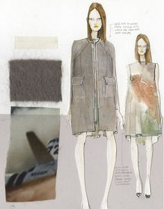 Fashion Sketchbook - fashion illustrations, swatches and inspirations; developing a fashion collection; the creative process // Katty Hoelck