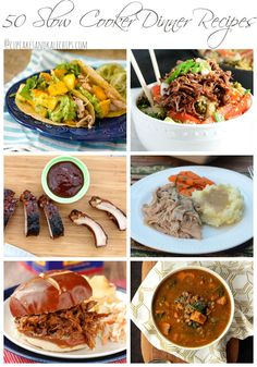 50 Slow Cooker Dinner Recipes - some of the best recipes to come out of your crockpot! | cupcakesandkalechips.com
