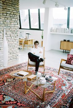 quentindebriey: A portray of designer Bruno Pieters at home I did for Purple magazine.Antwerp december 2013