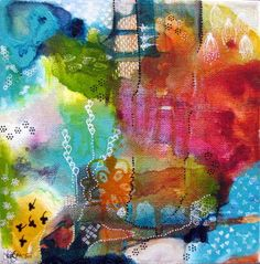 Little Wonder by Liza Zeni Baker, acrylic and ink on canvas http://lizazeni.wordpress.com/shop/ #art #paintings via http://dowhatyouloveforlife.com/blog/2012/03/05/shared-stories-53-liza-zeni-banker-and-stacy-chizuk/