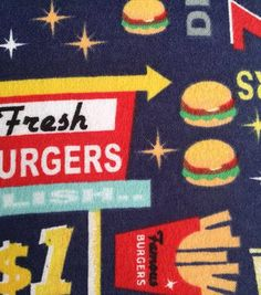 Snuggle Flannel Fabric-Burgers And Hotwo Daughters Quilt Fabric - Ogs