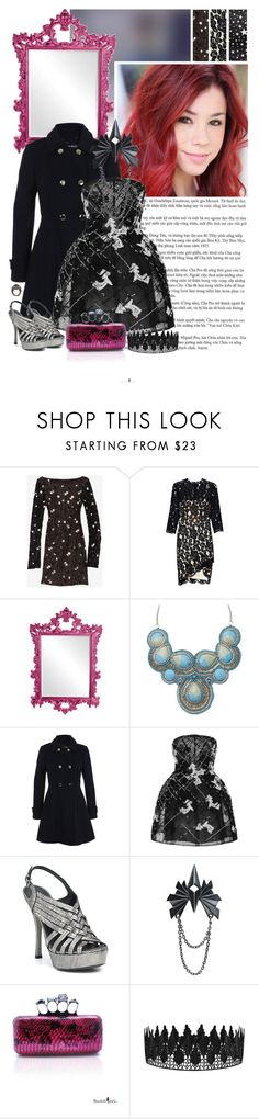 """Jillian Rose Reed as Mira Shards"" by supercalifragilistica ❤ liked on Polyvore featuring Diane Von Furstenberg, Lover, Dolce&Gabbana, Howard Elliott, Miss Selfridge, Monique Lhuillier, Vera Wang Lavender Label, Maria Black, Delfina Delettrez and everafterhigh"