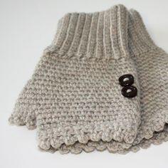 CROCHET PATRONES guantes sin dedos de damas por knotsewcute