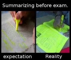Summarizing Before Exam