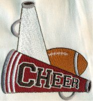 Cheerleading Spirit Machine Embroidery Designs and Alphabet