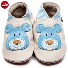 Inch Blue Krabbelschuhe Bear Cream/Blue, Child Small (*Partner-Link)