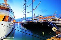 Port Vauban, in Antibes, hosts the most famous superyacht in the Med
