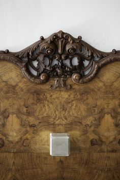 """Nucleo (Piergiorgio Robino + Marzia Ricci),""""Boolean"""" And (Footboard), 2017.Concrete, vintage furniture,220 x 40 x 83h cm.Unique piece. Photo byStudio Pepe Fotografia."""