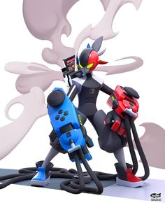 Nintendo Switch Hero by Kontorn Boonyanate Character Design Animation, Fantasy Character Design, Character Design Inspiration, Character Concept, Character Art, Robot Concept Art, Robot Art, Pokemon, Cool Robots