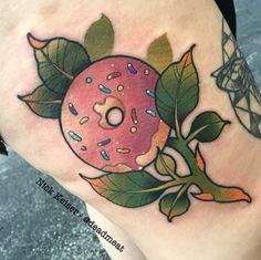 15 Strangely Sweet Doughnut Tattoos | Tattoodo.com