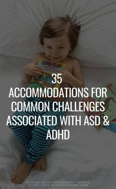 Kids Health 35 Accommodations for common challenges associated with ASD - Autism Spectrum Disorder - Parent Support - Is My Child Autistic, Children With Autism, Adhd And Autism, Adhd Kids, Autism Diet, Young Parents, Young Moms, Adhd Strategies