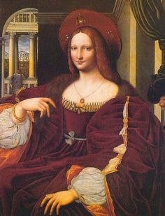 A copy of the portrait of Duchess Isabella of Aragon, by Giulio Romano.