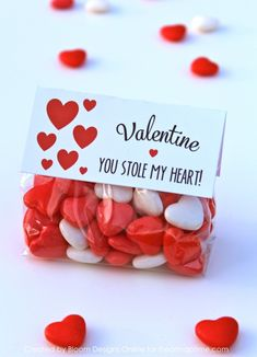 'You Stole My Heart' free printable Valentine on iheartnaptime.com ...super easy and cute!
