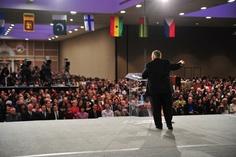 Pastor John Hagee speaking at Morris Cerullo's Evangelism Conference