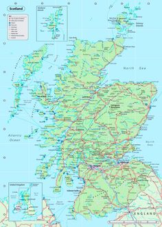 Map Of Scoland 40 Best Scotland map images in 2018 | Scotland travel, Places to