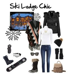 Ski Lodge Attire by cmrno on Polyvore featuring Michael Kors, Topshop, Calvin Klein, SOREL, Disney, Autumn Cashmere, Gentle Monster and Chanel