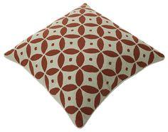 "Momeni Rugs Chainstitch Pillows Ottomans 20"" - Pillow CSP-1 Coral CHAINCSP-1CORPI20"