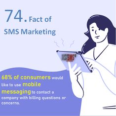 68% of consumers would like to use mobile messaging to contact a company with billing questions or concerns. Facts, Messages, Thoughts, Marketing, Text Posts, Text Conversations, Ideas