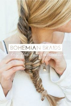 7 different ways to give your braid a bohemian flair. #hairstyle