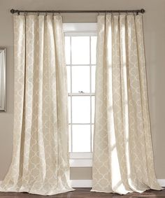 Look at this #zulilyfind! Tan Geometric Curtain Panel - Set of Two #zulilyfinds
