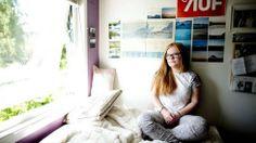 Lisa Jacobsen var elevrådsleder og ble kåret til årets elev ved Nesbur videregående. (Foto: Monica Strømdahl)