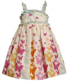 Bonnie Jean# M13328, butterfly rainbow sleeveless dress http://www.bonniejeandresses.in/m13328.html