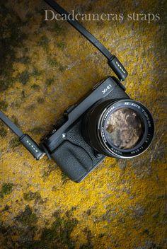Deadcameras Leather Mini Strap & Fuji X-E1 + Topcon 1.8/85mm