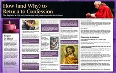 4c's of Confession: Be Consise, Clear, Complete, and Contrite.