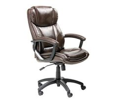 Pin it :-) Follow us :-)) AzOfficechairs.com is your Officechair Gallery ;) CLICK IMAGE TWICE for Pricing and Info :) SEE A LARGER SELECTION of  back support office chair at http://azofficechairs.com/category/office-chair-categories/back-support-office-chair/ - office, office chair, home office chair -   EZ Bonded Leather Executive Chair, Brown 8145 « AZofficechairs.com