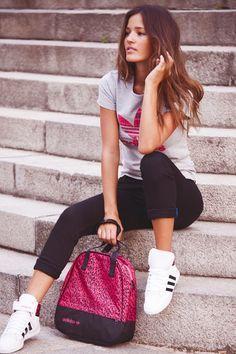 Outfit para tu día a día de Adidas #outfit #Adidas #moda #jeans #mujer