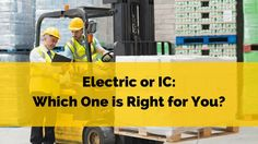 There are two kind of forklifts in the market – IC and electric. IC or internal combustion basically comes with a machine that runs of varied types of fuel, while there are electric ones, which come with batteries, which must be charged. The electric models are expensive in comparison, but also last longer.