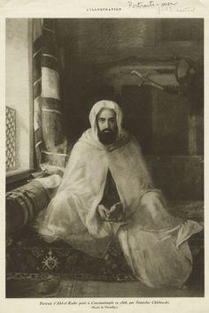 Toutes les tailles   Portrait d'Abd-el-Kader peint à Constantinople en 1866, par Stanislas Chlebowski.   Flickr: partage de photos!