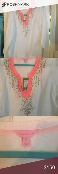 NWT Lilly Amelia Island Tunic Brand new Lilly. Absolutely stunning just decided it wasn't for me. Lilly Pulitzer Tops