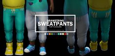 Onyx Sims: Drawstring Sweats for Toddlers • Sims 4 Downloads