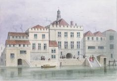 View of Old Fishmongers Hall, 1650 (w/c on paper) Wall Art & Canvas Prints by Thomas Hosmer Shepherd