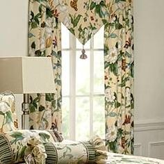 Royal Heritage Home Williamsburg Abby Ivory/White/Green Standard Cotton Reversible Traditional 4 Piece Comforter Set & Reviews | Wayfair Cafe Curtains, Drapes Curtains, Ascot, Fashion Models, Balloon Valance, Floral Room, Sheer Curtain Panels, Garden Images, Thermal Curtains