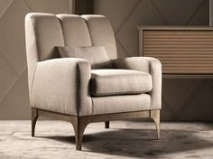 Fabric armchair with armrests QUARTZ | Armchair with armrests by Caroti