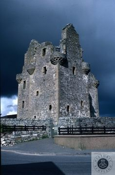 Scalloway Castle, Shetland. A castellated mansion built in 1600.