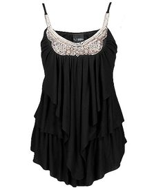 Daytrip Bead Applique Tank Top. Add boots and jeans and its a cute going out outfit!