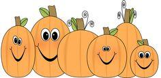 Cute Pumpkin Clip Art | Pumpkin Patch Clip Art Image - patch of pumpkins with funny faces.