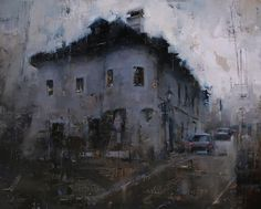 Blackness Over the Lower Street by Tibor Nagy Oil ~ 16 x 20
