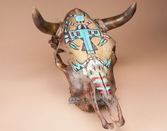 Genuine Southwestern Steer Skull -Native - Mission Del Rey Southwest