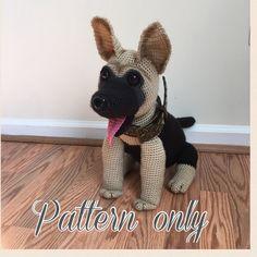 Patrón de ganchillo de perro pastor alemán PDF por Ambercraftstore
