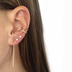 New Gold And Diamond Hook Earrings Opal Studs Double Ear Cuff Joolz Bar Zoe Chicco La
