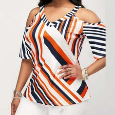 Stylish Tops For Girls, Trendy Tops, Trendy Fashion Tops, Trendy Tops For Women Trendy Tops For Women, Stylish Tops, Blouses For Women, Blouse Styles, Blouse Designs, Cold Shoulder Bluse, Vetement Fashion, Casual Skirt Outfits, Summer Outfits