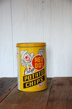 Your place to buy and sell all things handmade Madison Wisconsin, Salty Snacks, Red Dots, Potato Chips, Store Design, Tins, Decorative Objects, Potatoes, Canning
