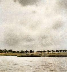'View of Gentofte Lake, Sunshower' (1903) by Danish painter Vilhelm Hammershøi (1864-1916).